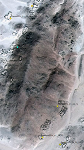 Localisation des photos prises sur le terrain